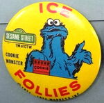 Ice follies button cookie monster