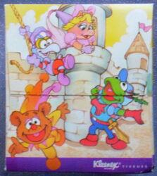 Kleenex 1988 muppet babies tissue box 2