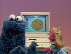 Sesame street prairie dawn and cookie monster tea party