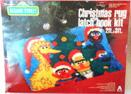 Vogart crafts 1979 christmas holiday party latch hook rug kit 1