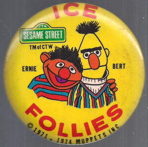 Ice follies 1974 bert ernie button