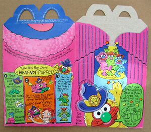 Mcdonalds 1994 muppet workshop happy meal box premium 4