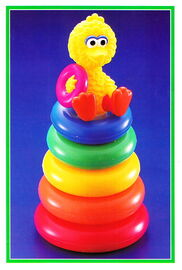 Tyco 1993 big bird's stacking rings