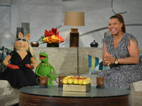 Kermit and Piggy on Queen Latifah March 21 2014
