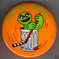 Sesame street superstar button oscar