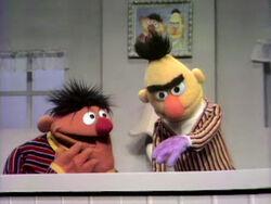 Bert purple hand
