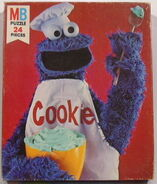 Milton bradley 1978 puzzle cookie monster chef