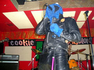 Cookie mongoloid performs