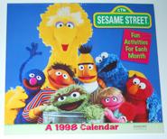 Sesame street calendar 1998 cover