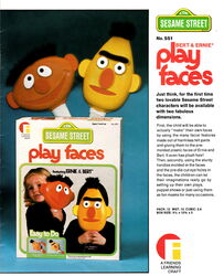 Friends industries 1976 catalog bert and ernie play faces