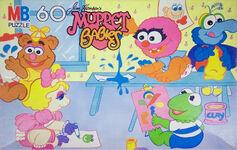 Muppet Babies Milton Bradley puzzle 60pc painting