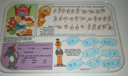 Playtime placemats 1992 sesame back