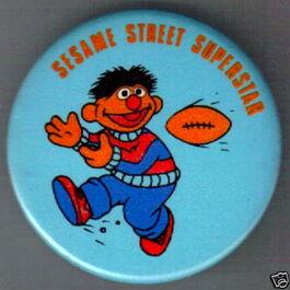 Sesame street superstar button ernie
