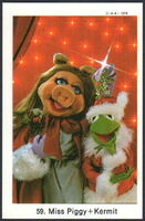 Sweden swap gum cards 59 miss piggy and kermit