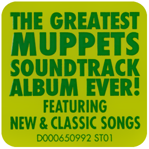 The Muppets soundtrack sticker