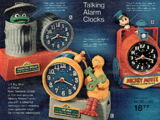 Sesame Street alarm clocks (Bradley Time)