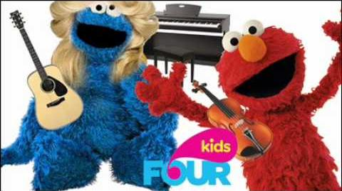 Elmo and Cookie Monster Interview - FOUR Kids