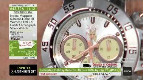 Invicta Muppets Womens Subaqua Noma III Limited Edition Quartz Chronograph Silicone Strap Watch