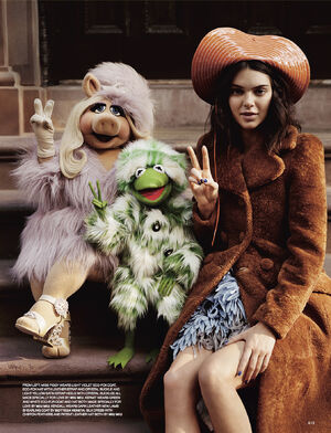 Love magazine Piggy, Kermit and Kendall