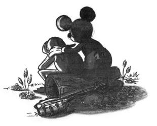 Mickey consoles Kermit WD Eye 1990