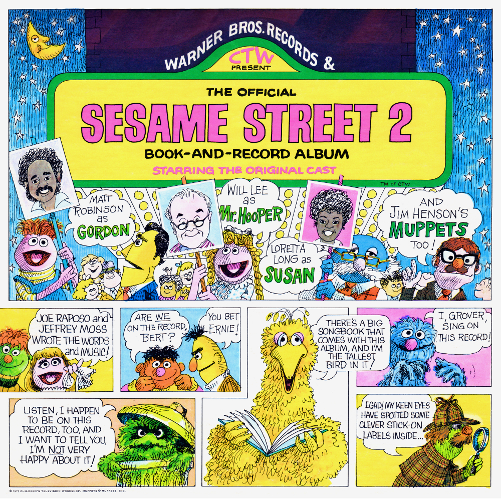 the official sesame street 2 bookandrecord album
