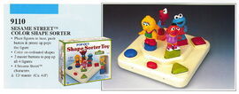 Illco 1992 baby toys pop-out shape sorter toy