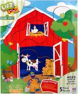 Milton bradley sesame puzzle lift&look-foodfromthefarm
