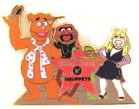 Muppets hollywood star pin