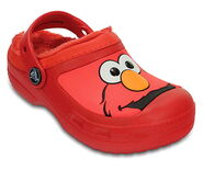 Crocs fur-lined elmo