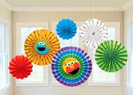 1st Birthday paper fan decoration