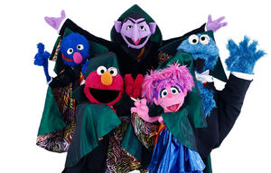 Count capes Grover Elmo Abby Cookie