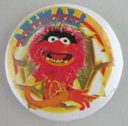Muppet show button pin badge uk animal