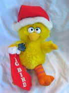 Applause 1984 plush big bird christmas 11 inch