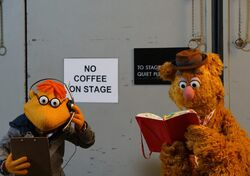 Scooter Fozzie bowl backstage