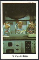 Sweden swap gum cards 38 pigs in space