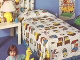 Sesame Street bedding (Montgomery Ward)