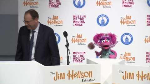 Abby Cadabby, Red Fraggle and Fozzie Bear appear at the opening of The Jim Henson Exhibition on July 20th, 2017.