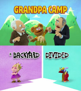 Grandpa Camp - Backyard Divided