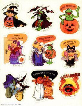 Hallmark 1982 halloween stickers