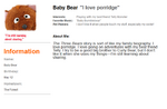 Muppetbook Baby Bear
