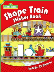 Dover shape train sticker book