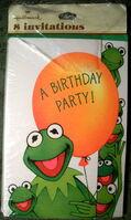 Hallmark 1981 party invitations kermit 1