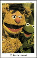 Sweden swap gum cards 30 fozzie and kermit