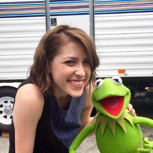 Eden Sher and Kermit