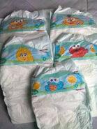 Pampers Zoe Ernie Big Bird Elmo Cookie