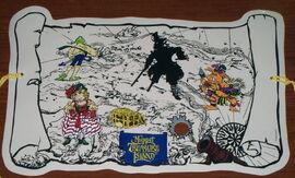 Selandia 1996 muppet treasure island placemat