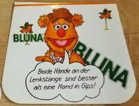 Bluna orange soda 1981 german stickers 2