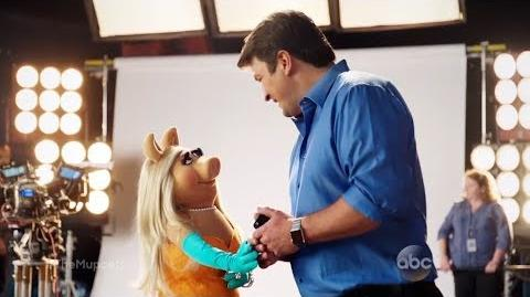 Miss Piggy Ogles Nathan Fillion - The Muppets
