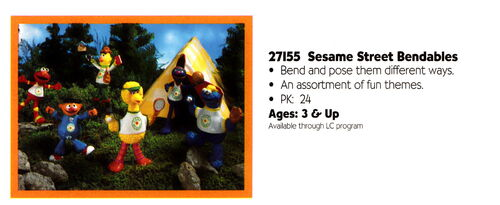 Playskool 1995 catalog bendable pvc camp sesame