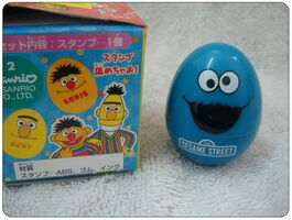 Sanrio egg rubber stamp cookie monster 2